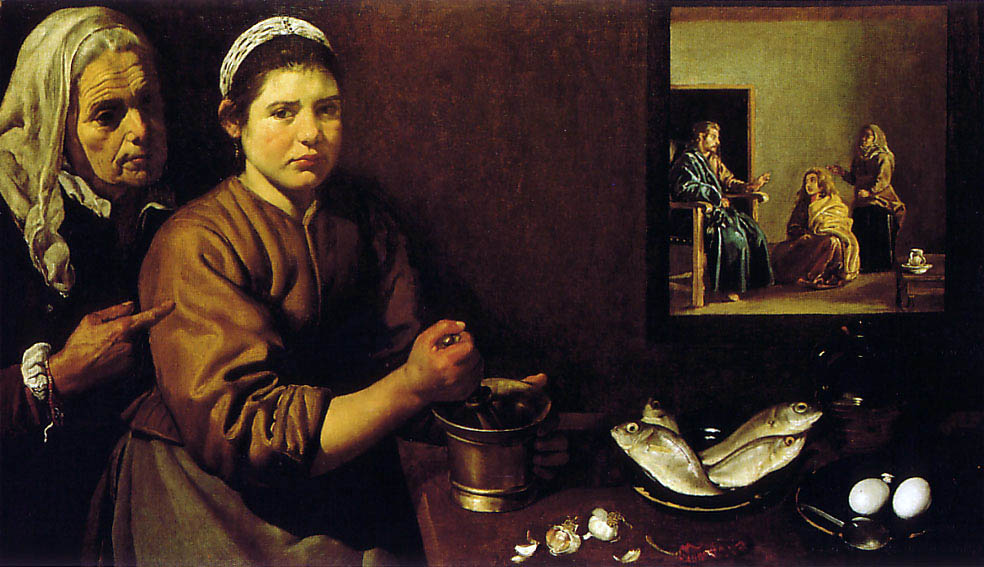 Christ in the House of Martha and Mary, 1618 by Diego Velazquez