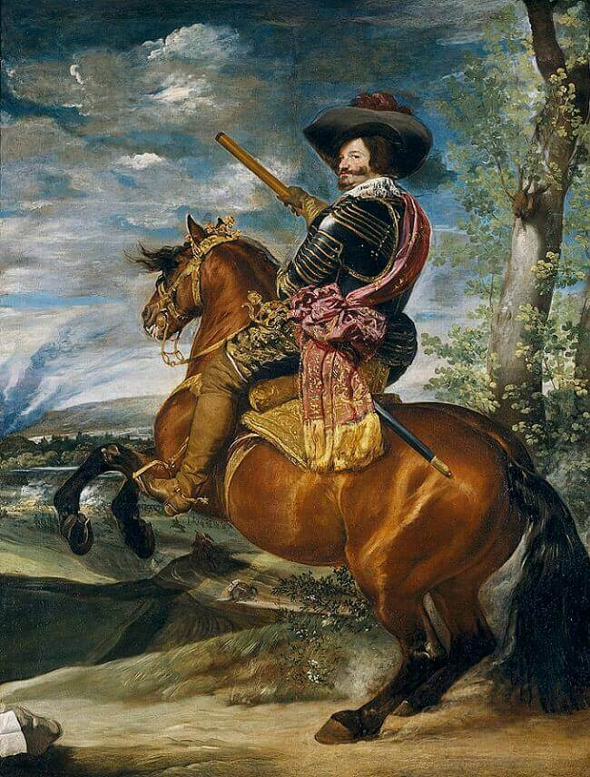 Equestrian Portrait of the Count-Duke of Olivares by Diego Velazquez