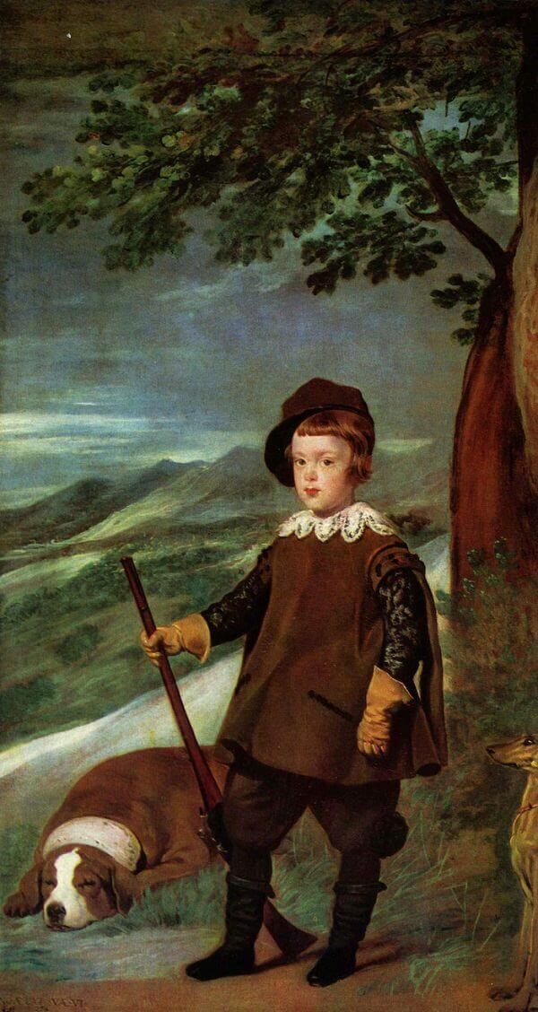 Prince Baltasar Carlos in Hunting Dress, 1635 by Diego Velazquez
