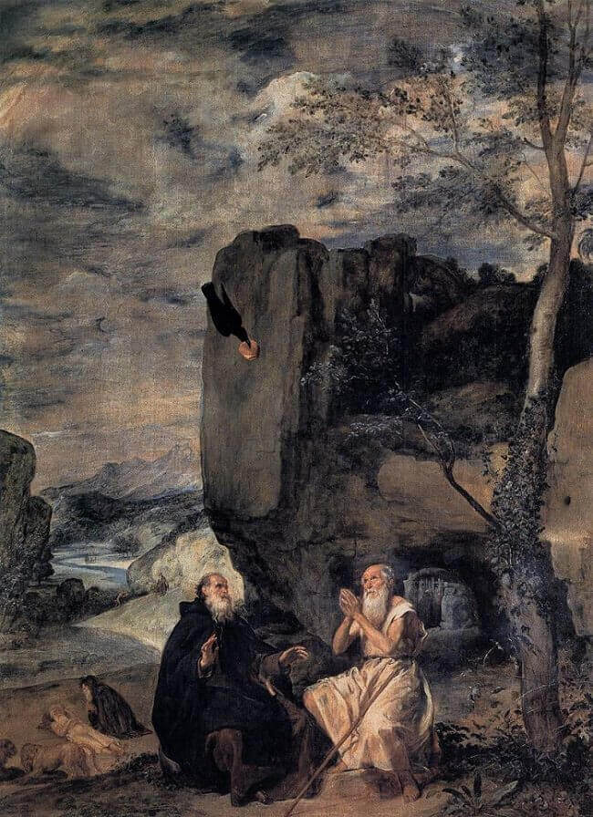 St Anthony Abbot and St Paul the Hermit, 1635 by Diego Velazquez
