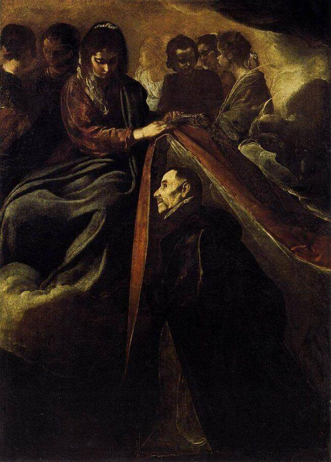 The Virgin Presenting the Chasuble to Saint Ildephonsus, 1623 by Diego Velazquez